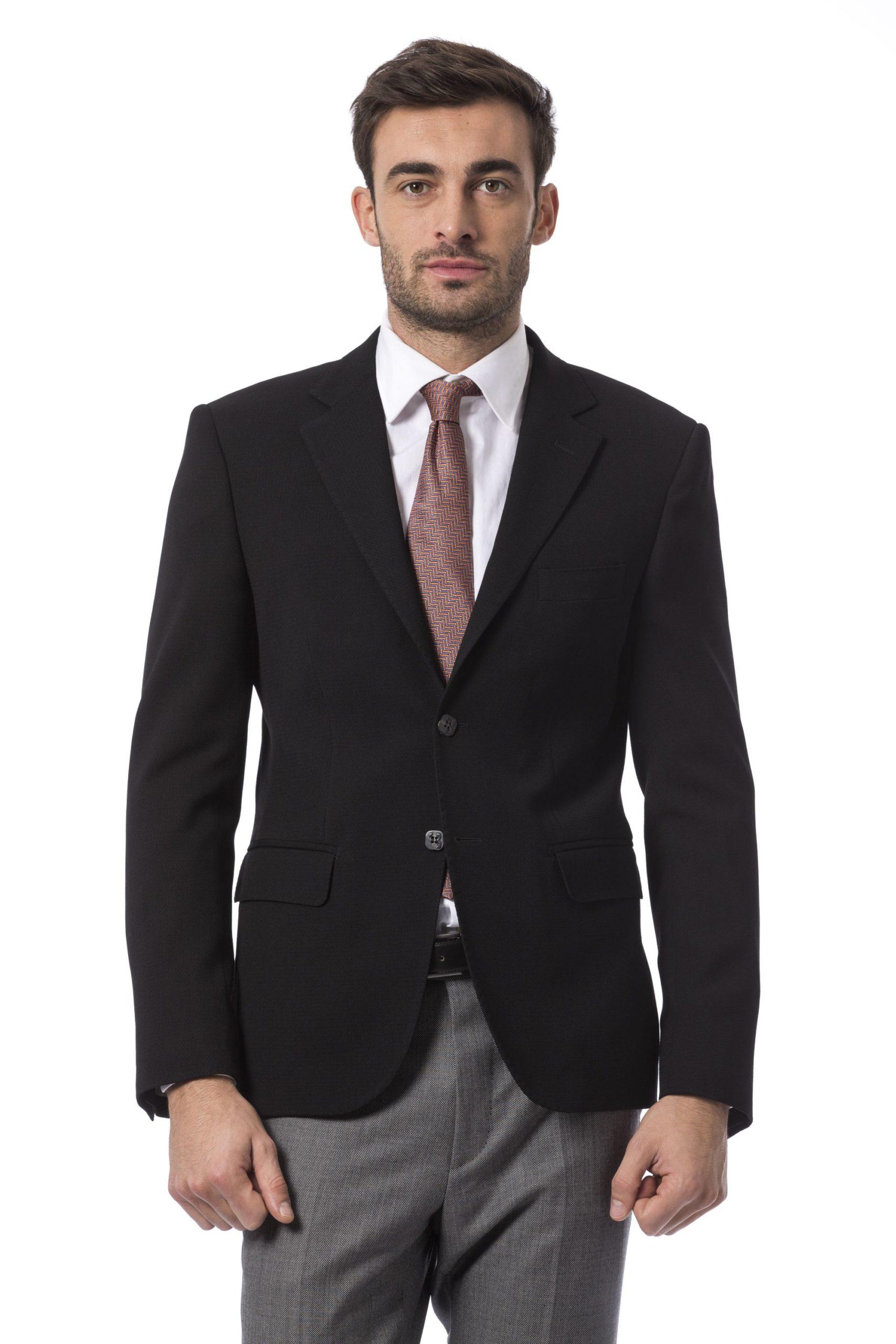 Billionaire Italian Couture Men's Blazer Black BI994526 - IT48   M