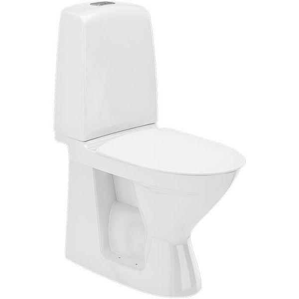 Ifö Spira Rimfree 626009211020 Toalettstol med hardt sete, hull for armlene