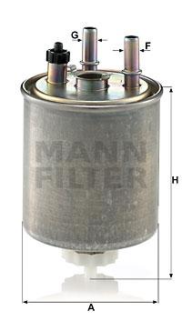 Polttoainesuodatin MANN-FILTER WK 9022