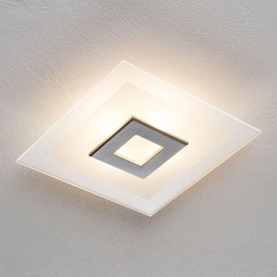 LED-taklampe Tian med glasskjerm, 39 cm