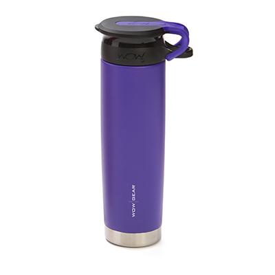 WOW - Double-Walled SS Bottle 650 ml - Purple/Black