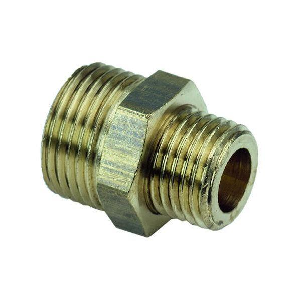 Ezze 3006069112 Sekskantnippel metall, utv gjenge G10 x G8