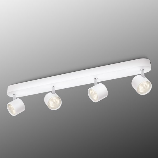 Nelilamppuinen LED-kattovalaisin Star