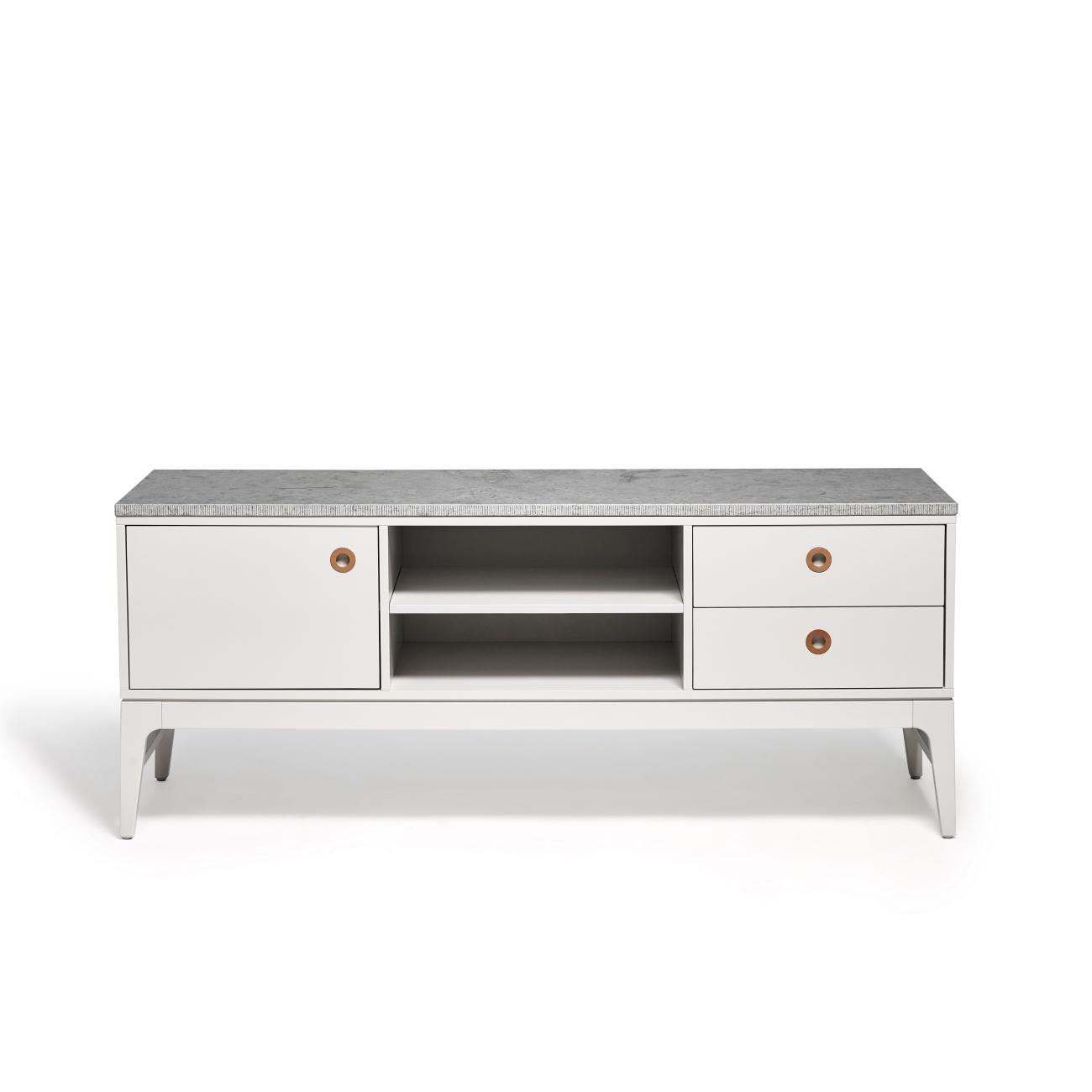 Höllviken TV-bänk 150 cm grå/ kalksten, Mavis