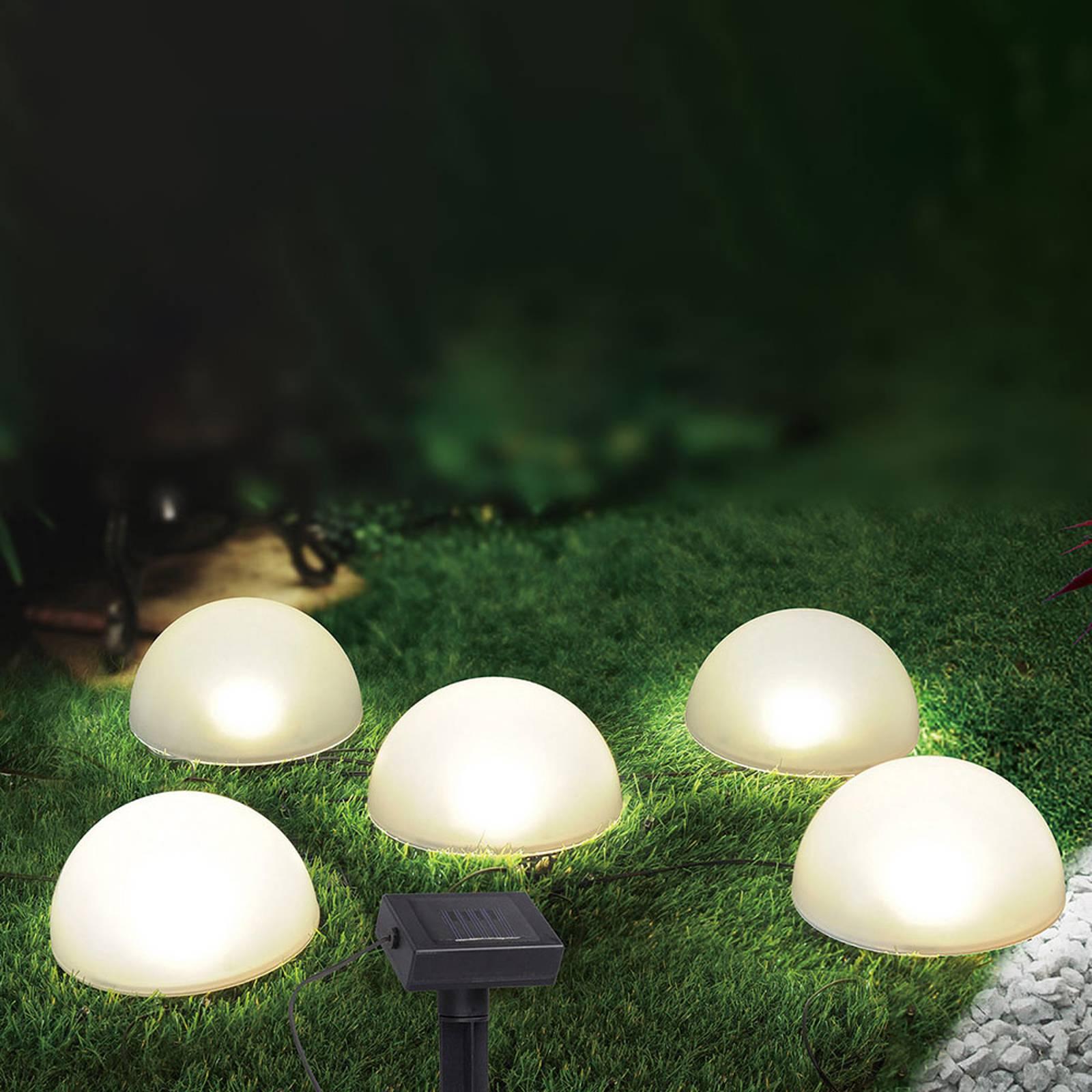 Aurinkokäyttöinen LED-valoketju 33980, valkoinen