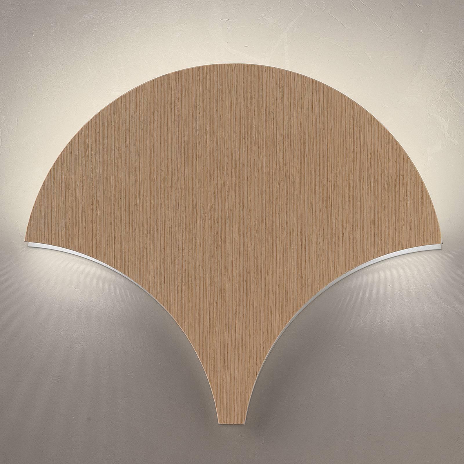 Ainutlaatuinen LED-seinävalaisin Palm vaalea tammi