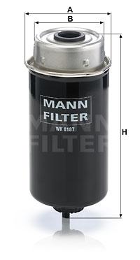 Polttoainesuodatin MANN-FILTER WK 8187