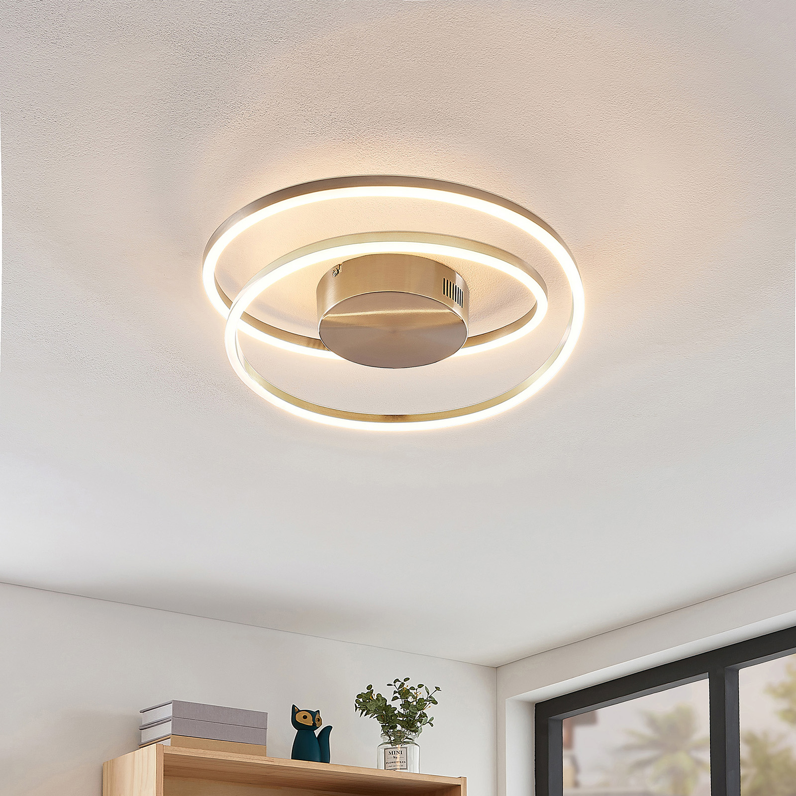 Lindby Davian LED-kattovalaisin, nikkeli