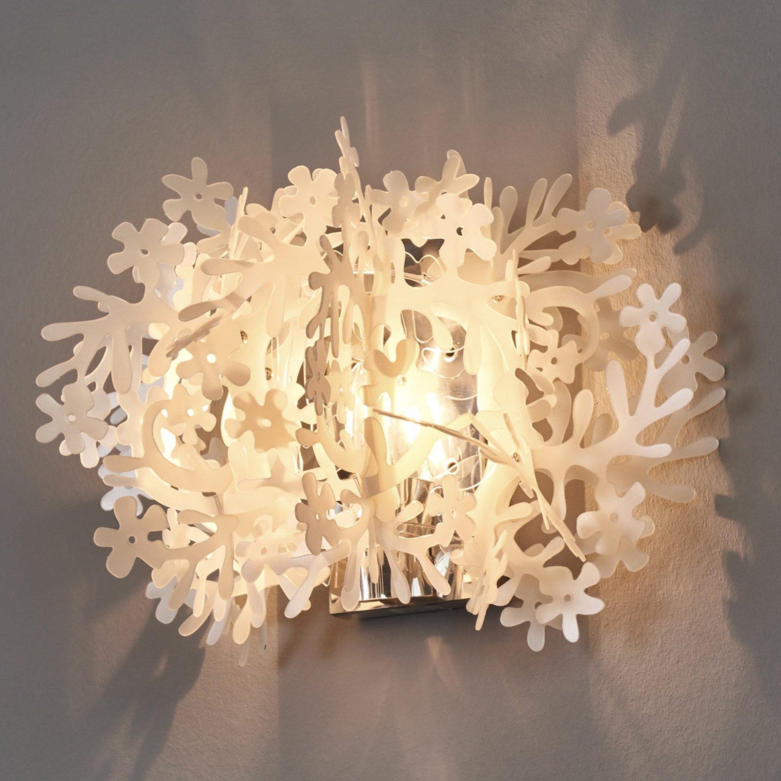 Vegglampe med blomstermønster Fiorella Mini