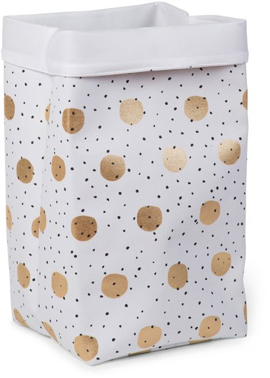 Childhome Oppbevaringsboks Stor, Gold Dots