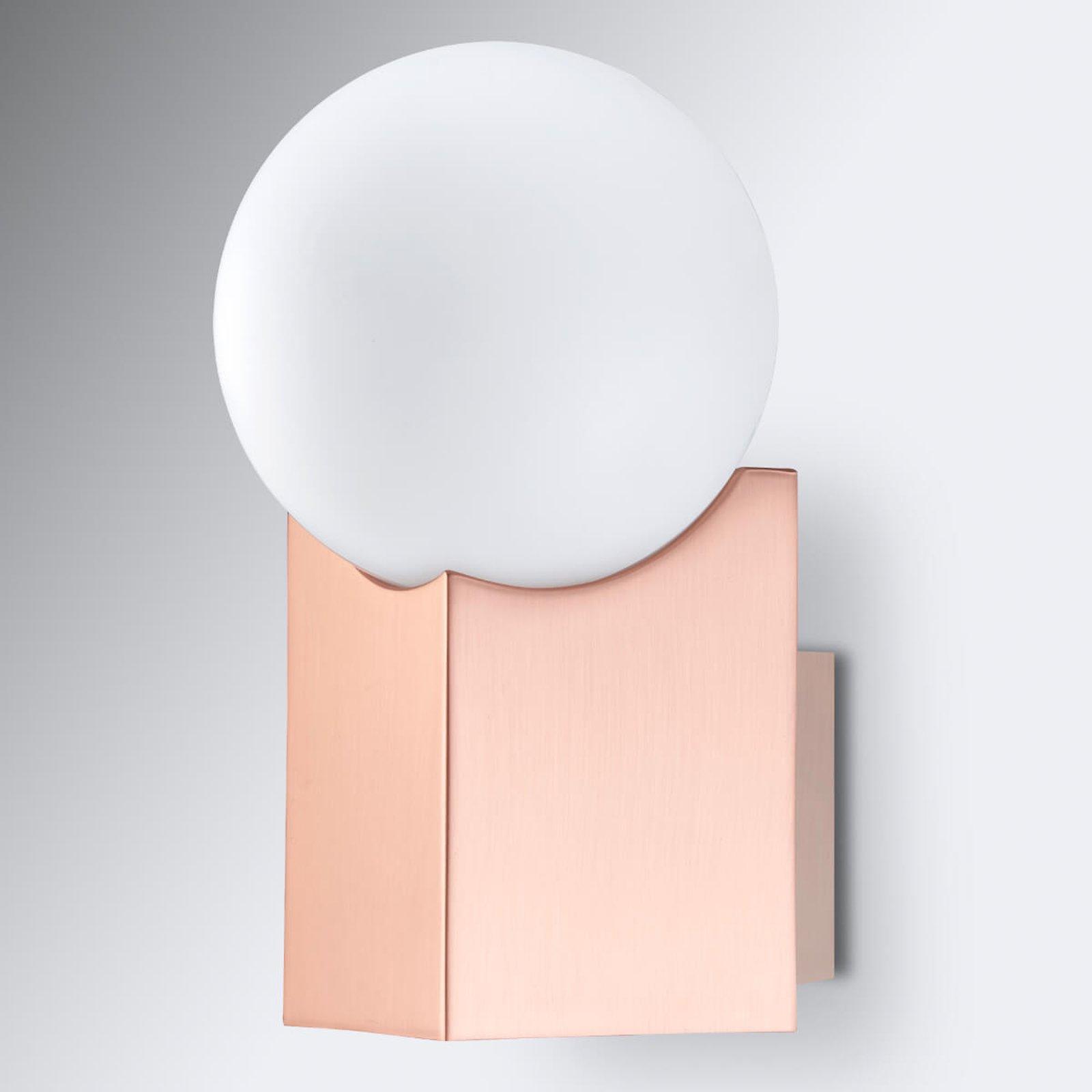 Vegglampe Cub kobber