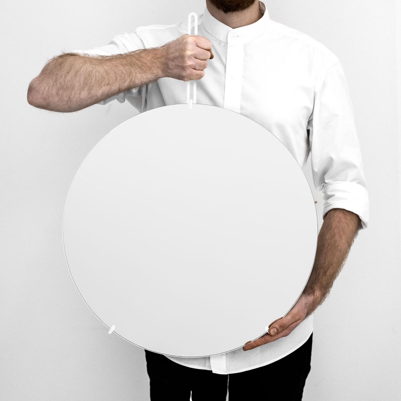 Spegel Ø50cm WALL MIRROR vit, MOEBE