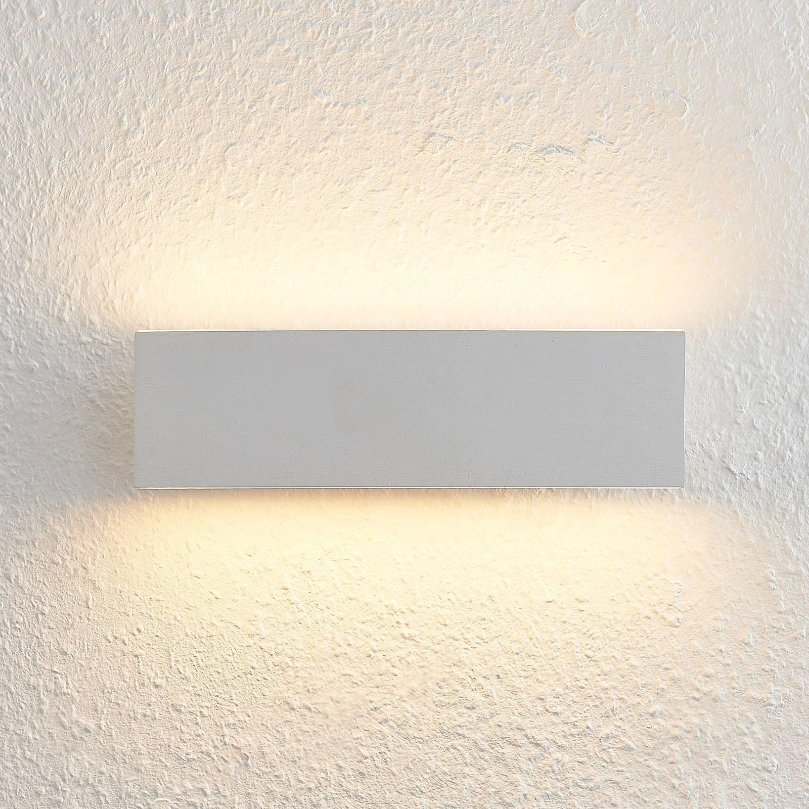 Lindby Ignazia LED-vegglampe, 28 cm, hvit
