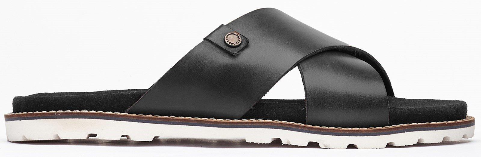 Base London Men's Gobi Slip On Sandal Various Colours 32497 - Black 7