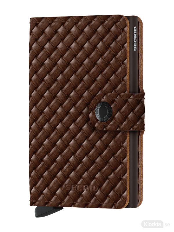 Plånbok SECRID Miniwallet Basket Brown