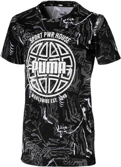 Puma Alpha Aop T-Skjorte, Black 92