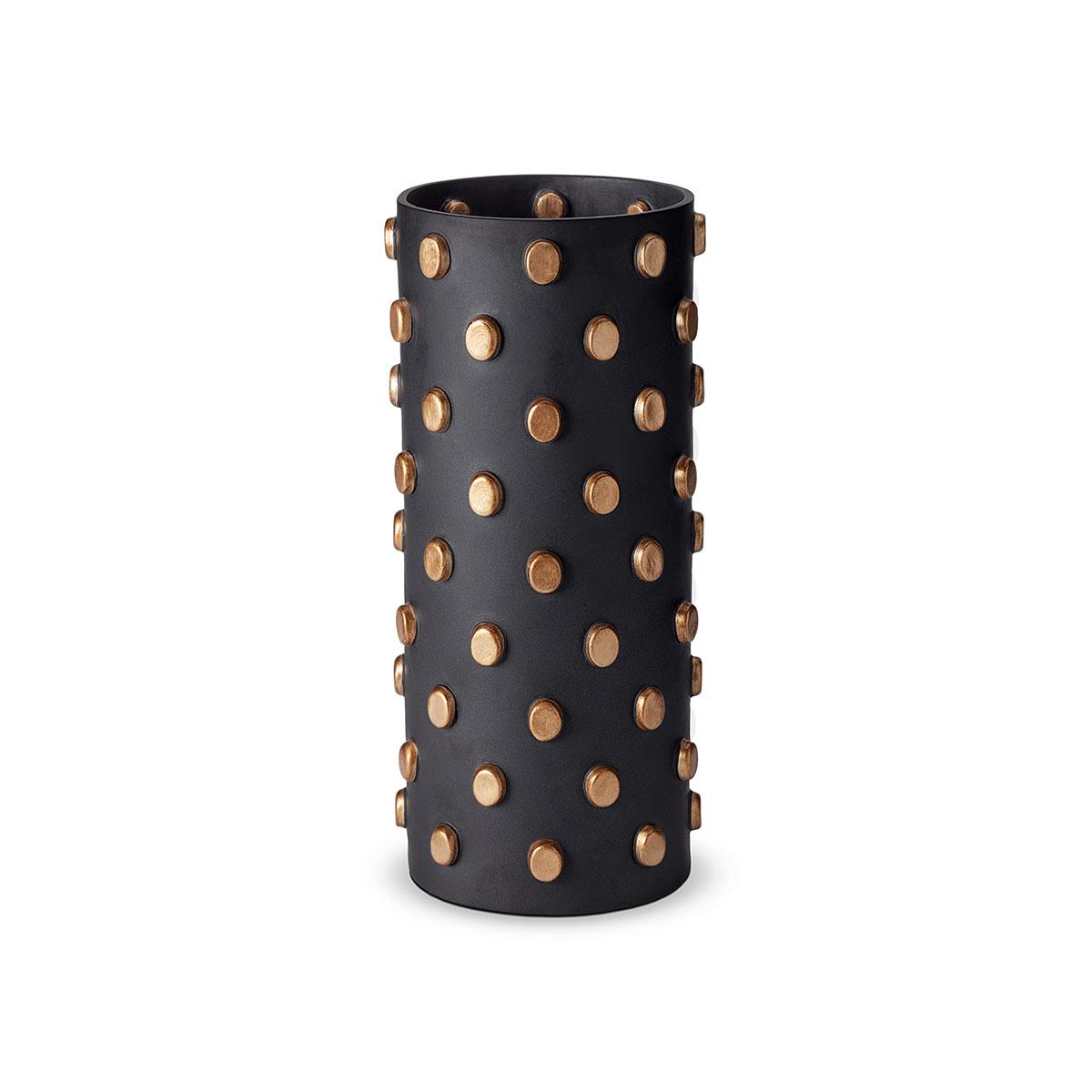 L'Objet I Teo Black Vase Large Black
