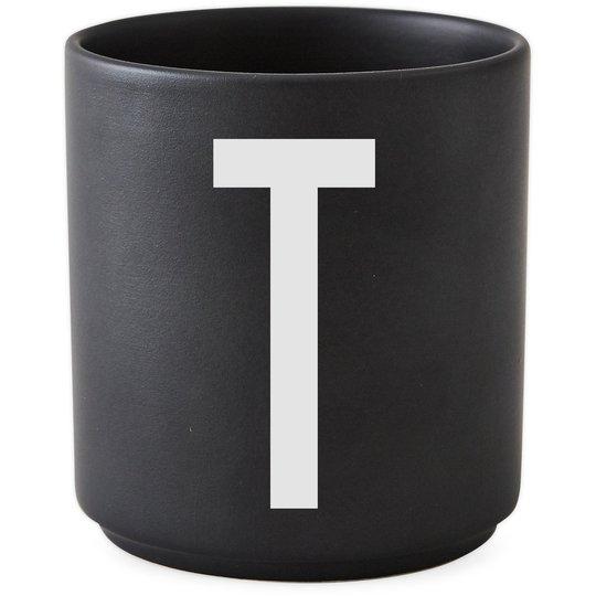Design Letters Porslinsmugg Svart, T
