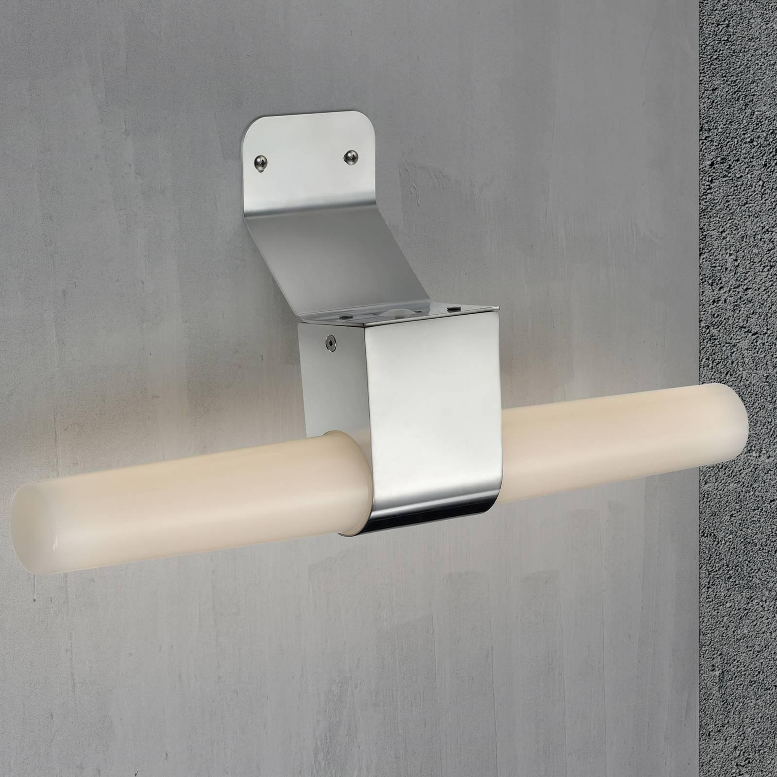 Kylpyhuoneen LED-seinälamppu Helva Double, nikkeli