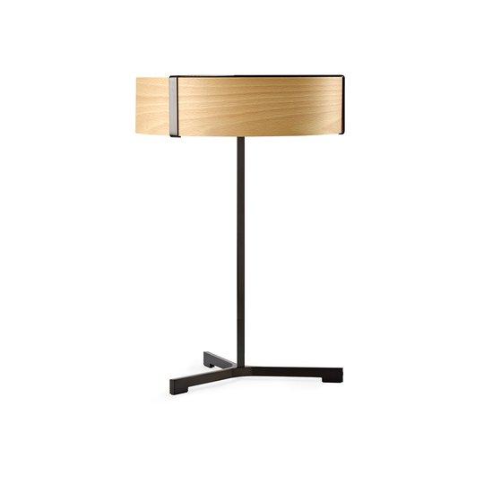 LZF Thesis LED-bordlampe svart matt / bøk