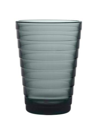 Aino Aalto Glass 33 cl Mørkegrå 2 stk.