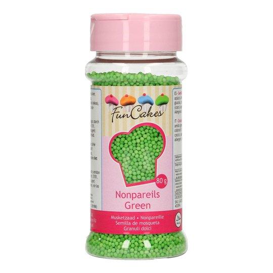 FunCakes Strössel Nonpareils Green/Grön - 80 g