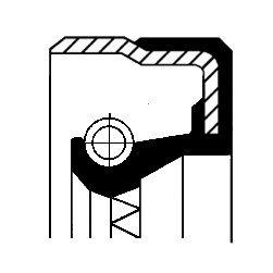 Oljepackningsring, manuell transmission, Inre, Höger, Utgång, Vänster