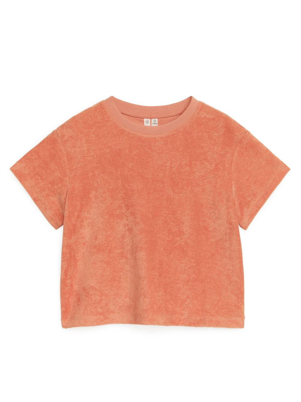 Cotton Towelling T-Shirt - Orange