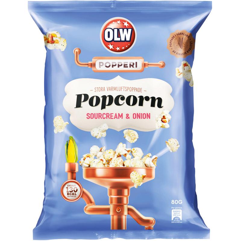 "Popkorni ""Sourcream and Onion"" 80g - 34% alennus"