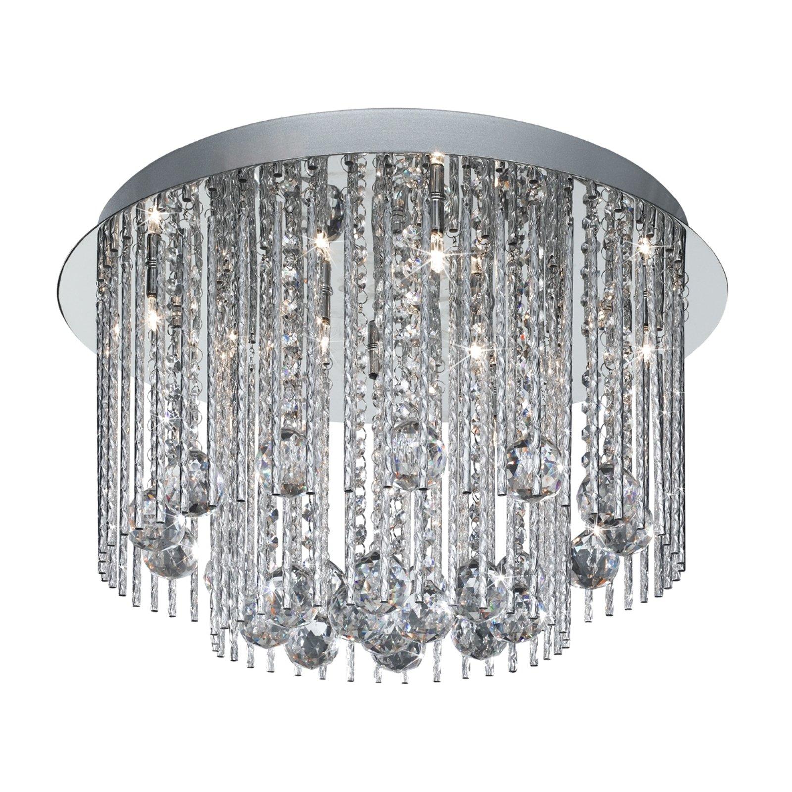 BEATRIX taklampe med krystallpåheng