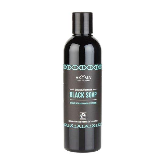 Akoma Liquid Black Soap Peppermint with Organic Raw Shea Butter