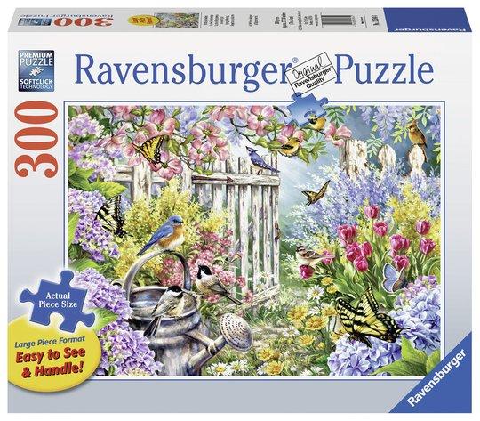 Ravensburger Puslespill Blomstertid 300 Brikker, Større Brikker