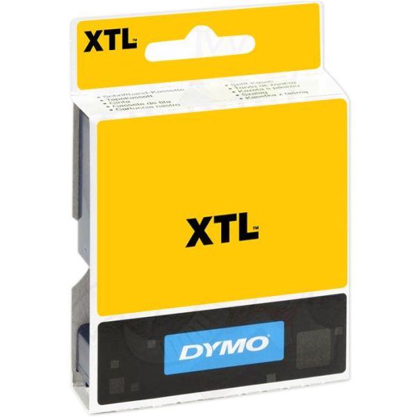 DYMO XTL Teip flerfunksjonsvinyl 12mm Svart på transparent