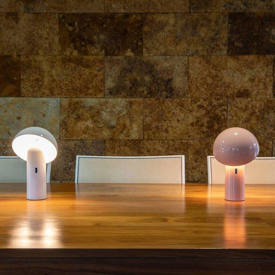 Newgarden Enoki LED-bordlampe med batteri, rosa