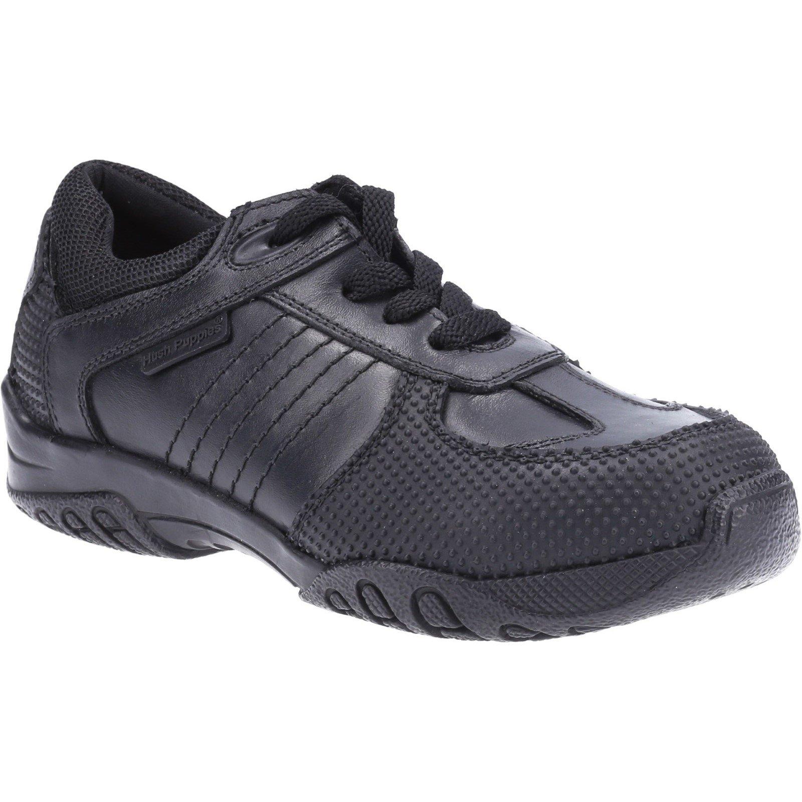 Hush Puppies Kid's Jezza Junior School Shoe Black 32587 - Black 12.5
