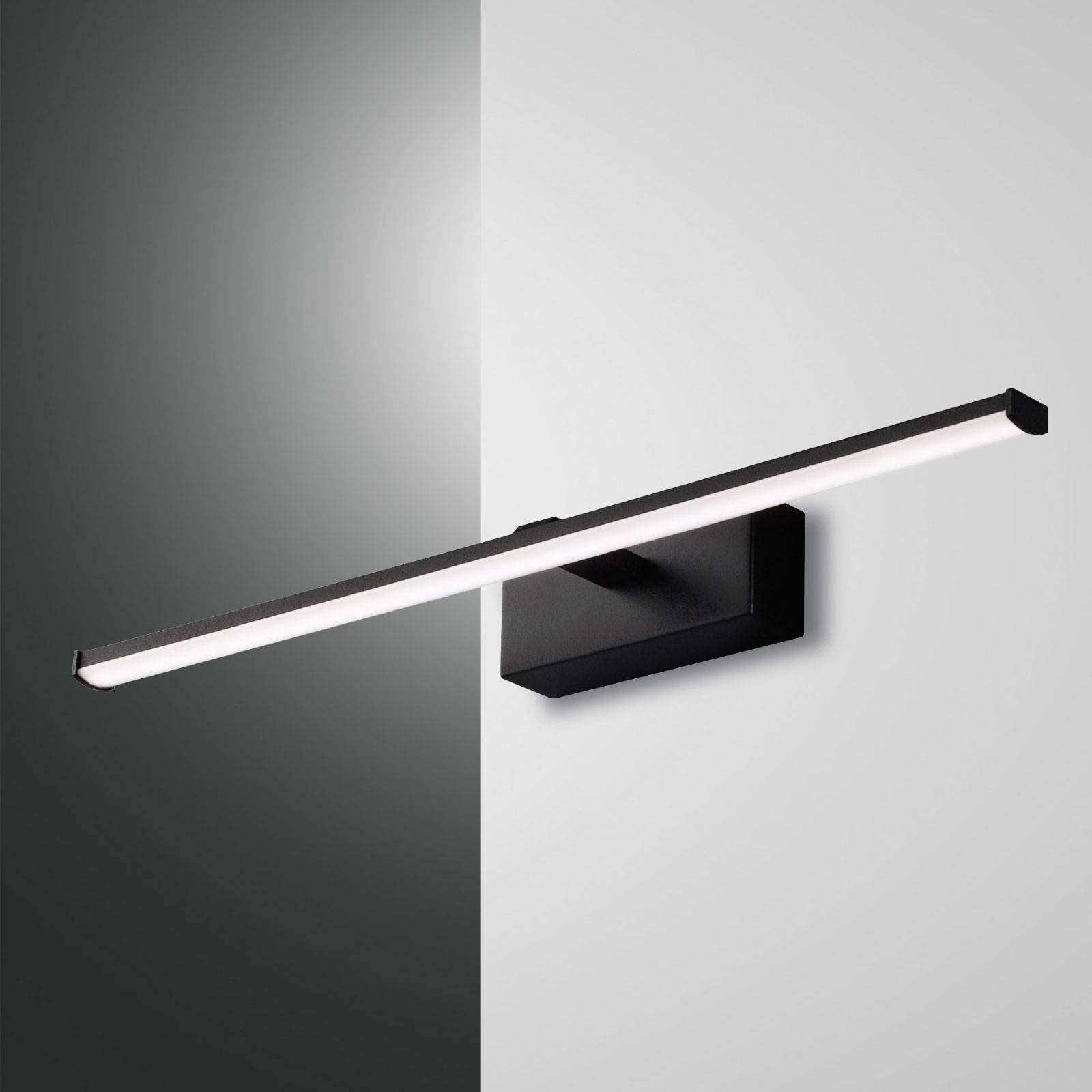 LED-vegglampe Nala, svart, bredde 50 cm
