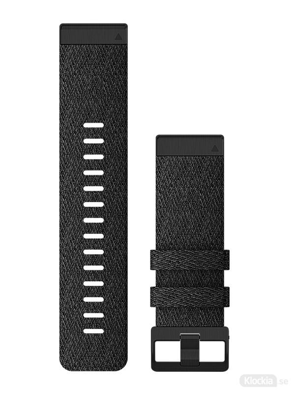 Garmin Armband 26mm QuickFit Svart melerad nylon 010-12864-07