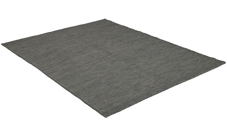 Jylland dark grey - håndvevd ullteppe