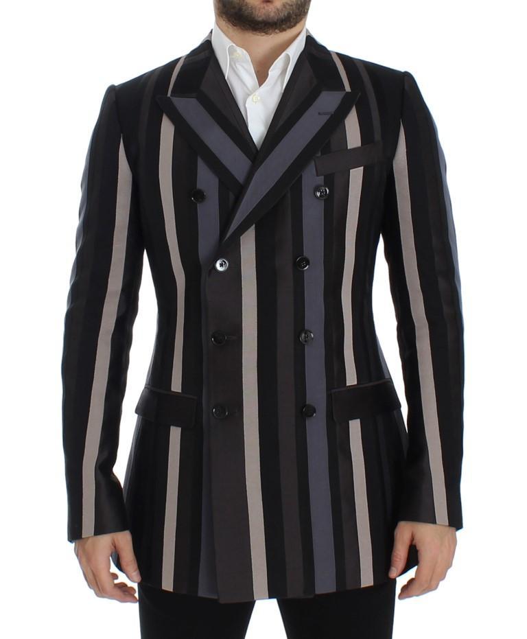 Dolce & Gabbana Men's striped Wool slim Blazer Multicolor SIG12279 - IT48   M