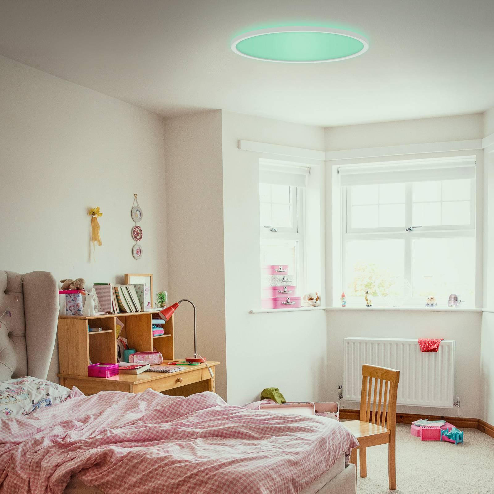 LED-paneeli Slim, ultraohut, pyöreä, RGB/W efekti