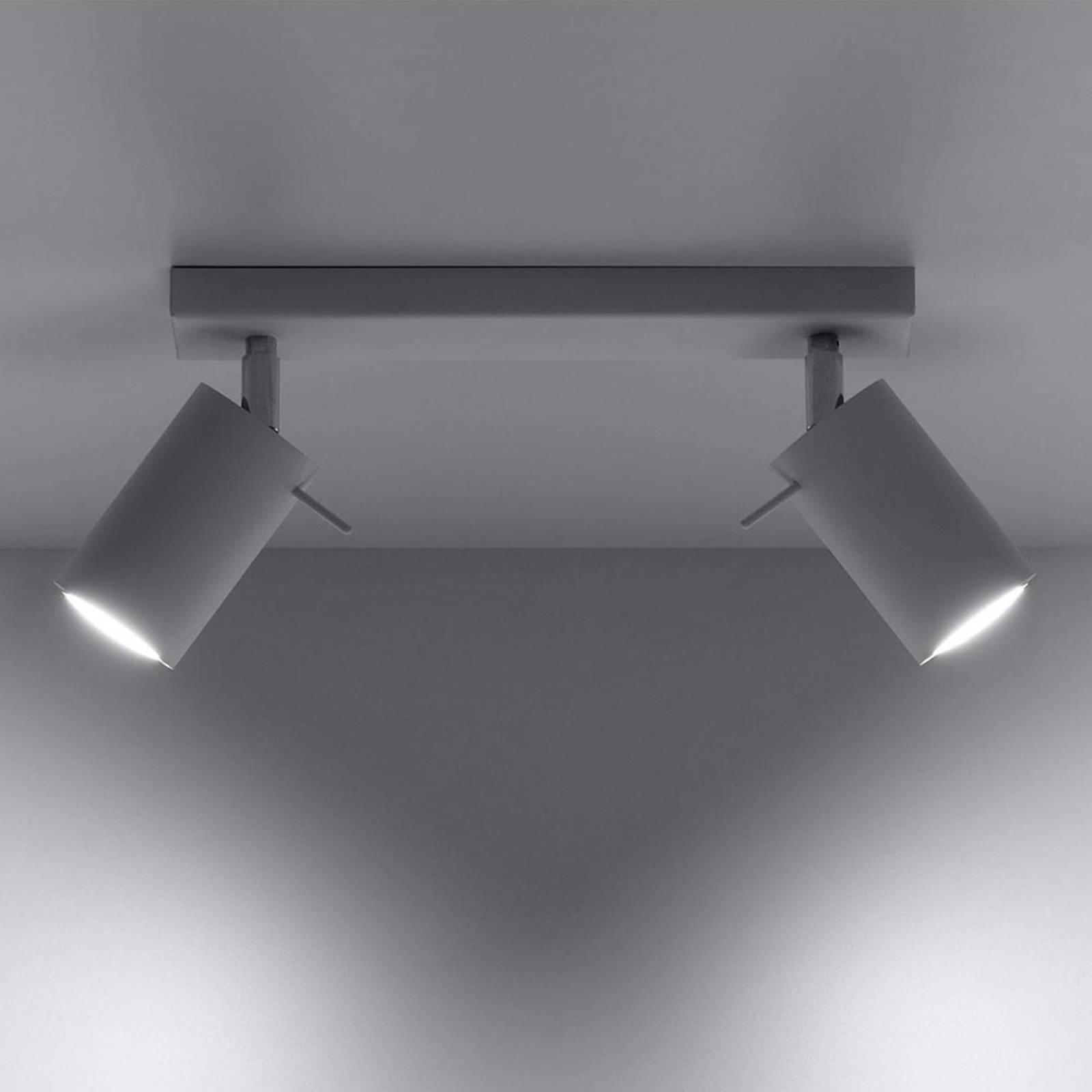 Kattokohdevalo Round, valkoinen, 2-lamppuinen