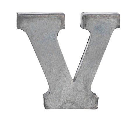Bokstav V 5,5 cm - Zinc