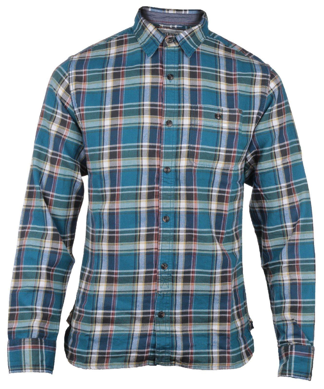 CAT Lifestyle Men's Bradley LS Shirt Various Colours 24138 - Park Sml