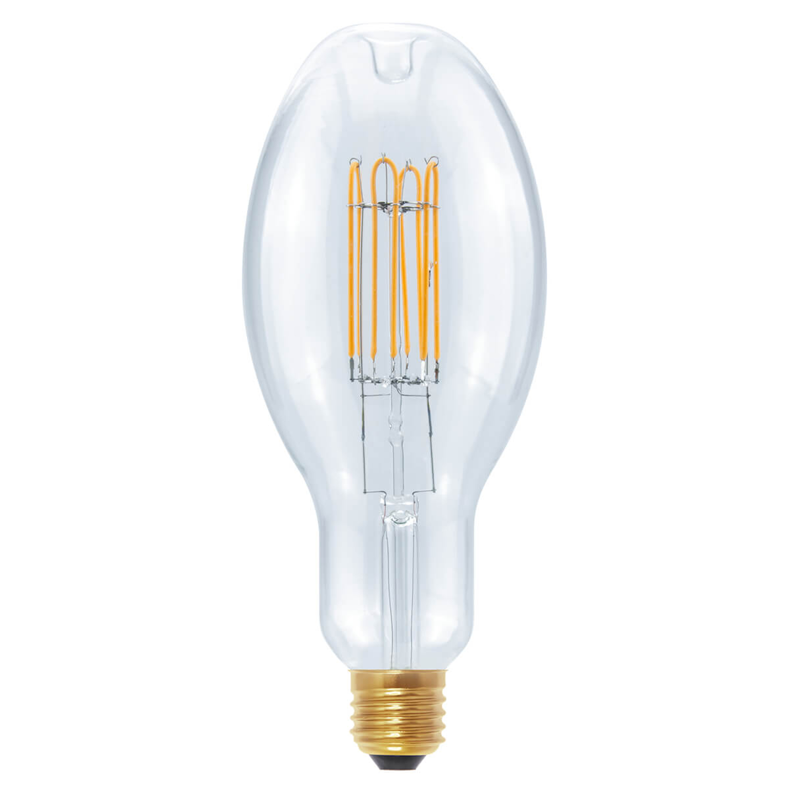LED Ellipse Curved U E27 10W lämmin valkoinen