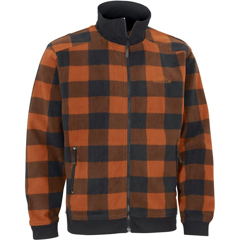 Swedteam Lynx Sweater Full-Zip XL Klassisk fleece, Orange