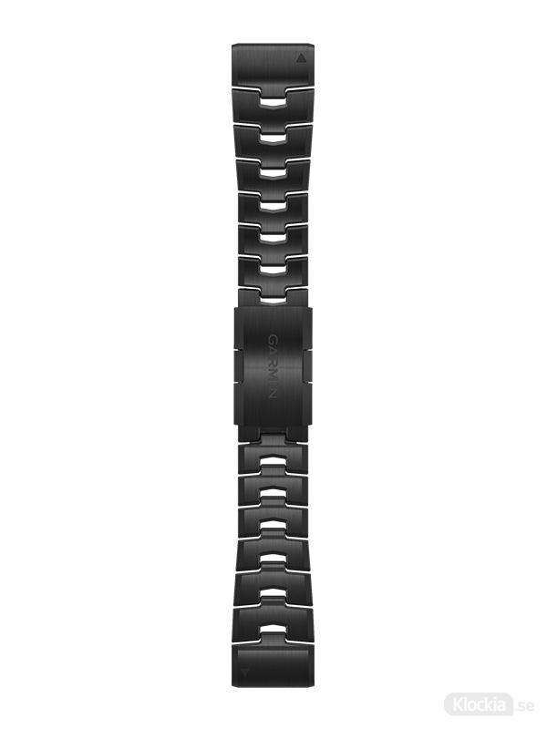 Garmin Armband 26mm QuickFit Ventilerande titanarmband med kolgrå beläggning i diamantliknande kol 010-12864-09