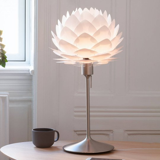 UMAGE bordlampe Silvia mini hvit/stål