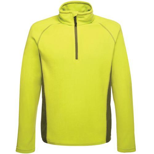 Regatta Men's Ashmore Half Zip Fleece Various Colours T_TRF505 - Lime Green/Racing Green 3XL