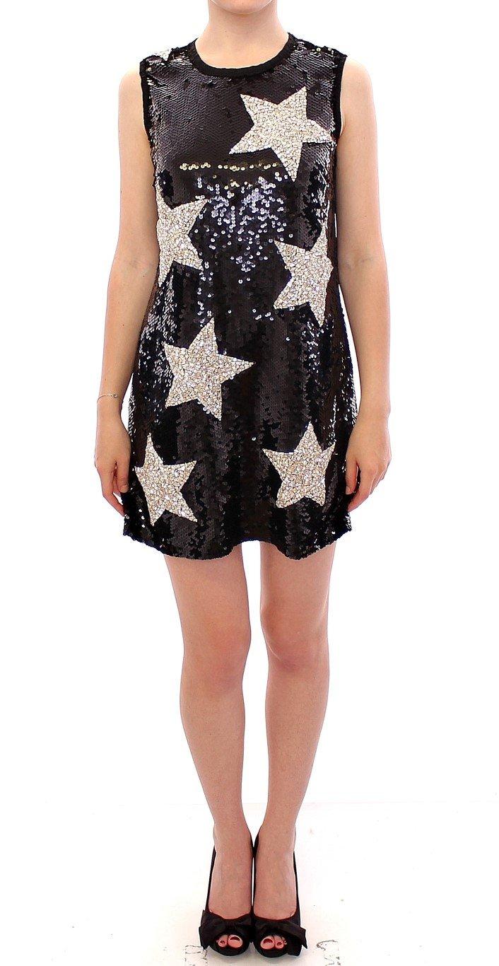 Dolce & Gabbana Women's Crystal Swarovski Sheath Dress Black GSS10004 - IT44|L