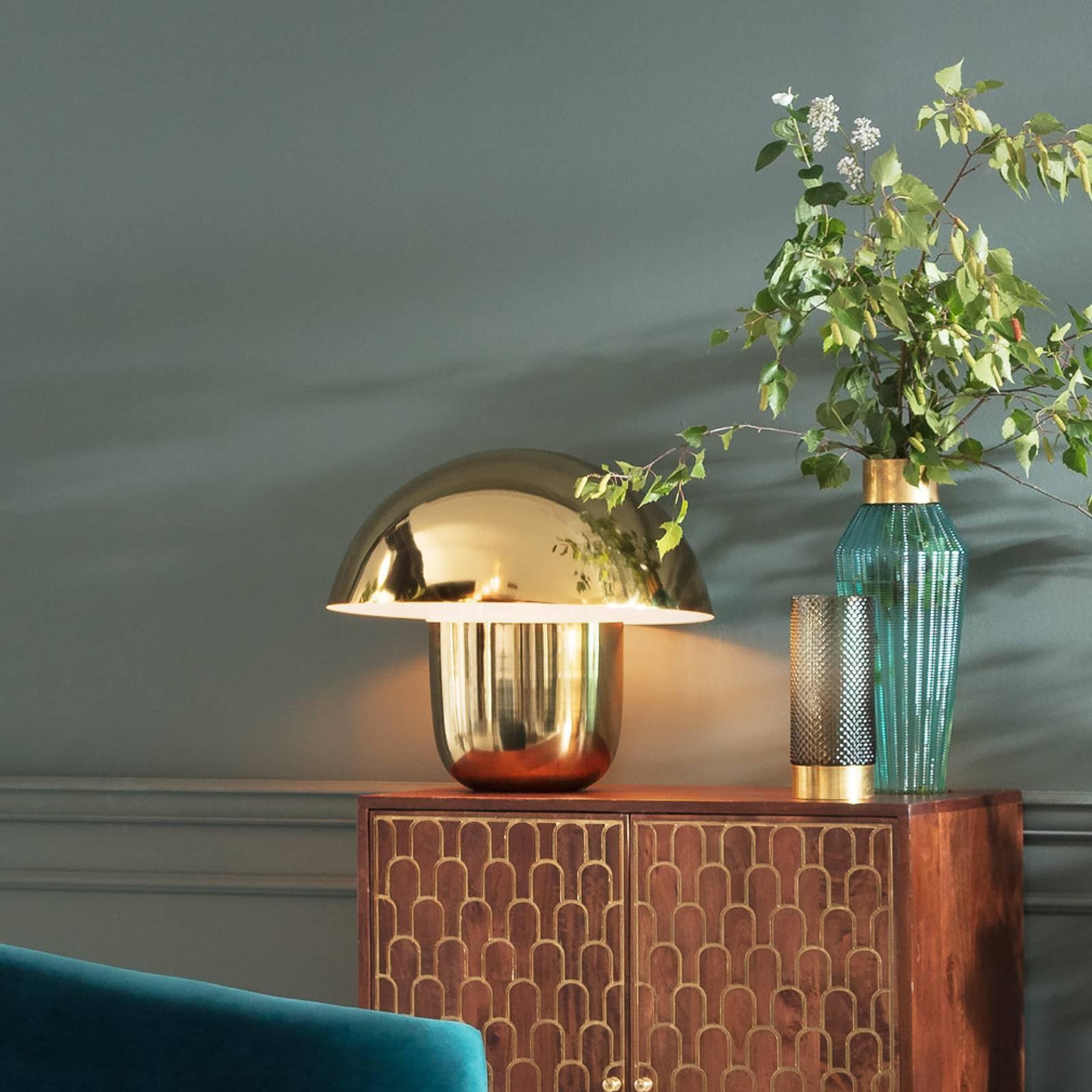 KARE Mushroom - bordlampe i soppform, gull